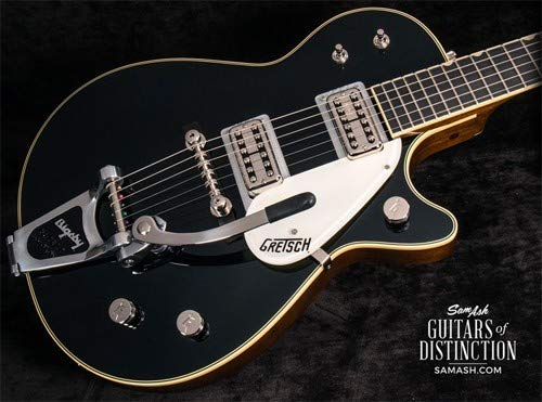 Gretsch Duo Jet - Gretsch G6128T-59 Vintage Select '59 Duo Jet Electric Guitar with Bigsby Black (SN:JT18104036)