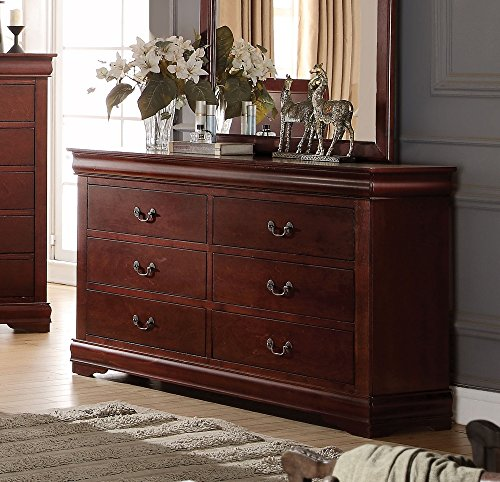 Acme Furniture Louis Philippe 23755 Dresser, Cherry, One Size
