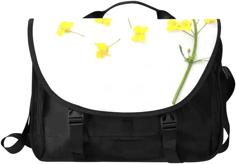 Fashion Crossbody Bag A Beautiful Bunch of Rapeseed Multi-Functional Laptop Bag Waterproof Fit for 15 Inch Computer Notebook MacBook
