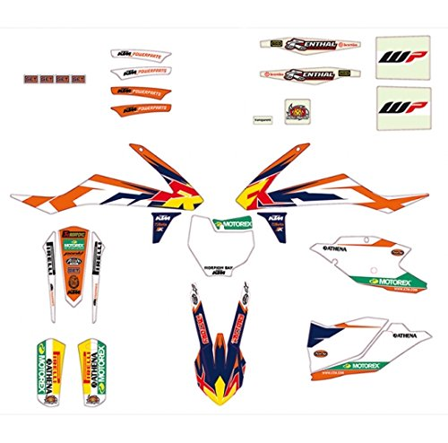 NEW OEM KTM GRAPHIC KIT ''FACTORY STYLE'' 2016 150 250 350 450 SX SXF 79208990000