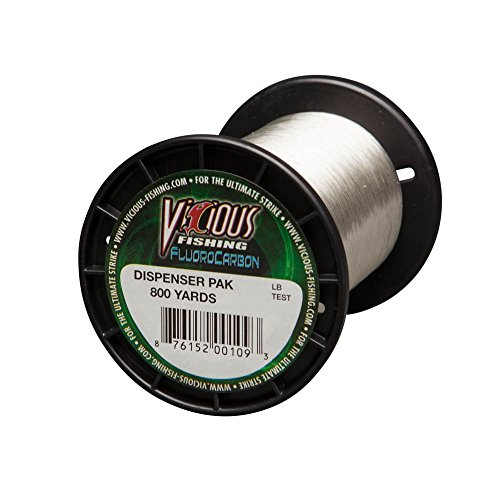 Vicious Fishing 800 yd/Clear FLB-6 100% Fluorocarbon Line 6Lbs