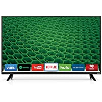 Vizio D40f-E1 1080p 40 Smart LED TV, Black (Certified Refurbished)