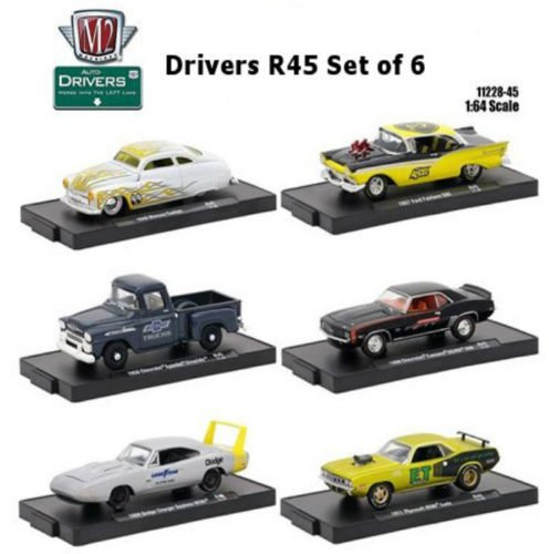 M2 MACHINES 1:64 AUTO-DRIVERS RELEASE 45 ASSORTMENT SET OF 6 11228-45