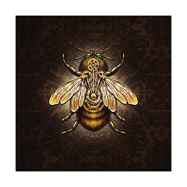 Skinit Decal Gaming Skin Compatible with 3DS (2011) - Originally Designed Steampunk Bee Design 4