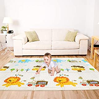 "Bammax Play Mat, Folding Mat Baby Crawling Mat Kids Playmat Waterproof Non Toxic for Babies, Infants, Toddlers, 70"" x 77.5"" x 0.6"""