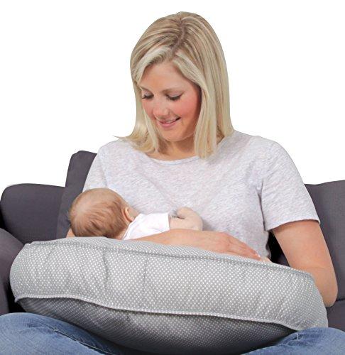Leachco Natural Basic Contoured Nursing Pillow - Gray Pindot