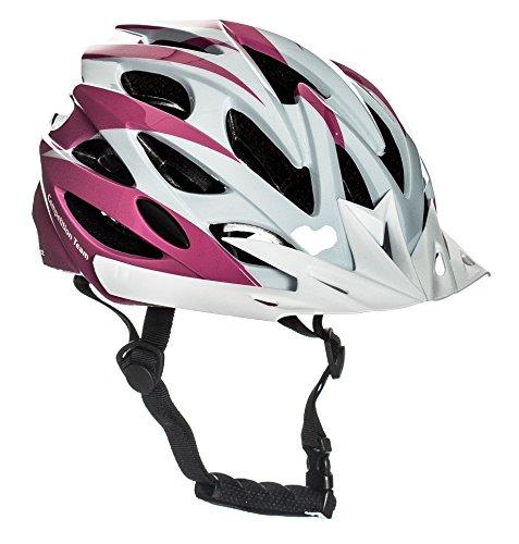 Sport DirectTM Junior Rosa 22 Vent Bicycle Bike Cycle Helmet Girls Pink 54-56cm CE EN1078 TUV Approvals