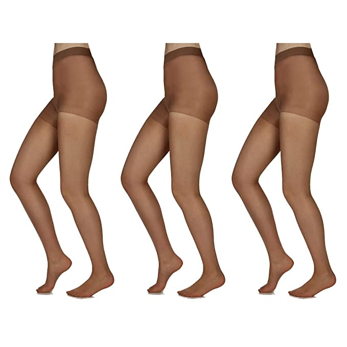 de6023684 Silky Toes 3 or 10 Pairs Control Top Sheer Pantyhose at Amazon ...