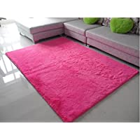 Norson Home Textiles, Ultra Soft 3 Cm Thick Indoor Morden Area Rugs Pads, New Arrival Fashion Color [Bedroom] [Livingroom] [Sitting-room] [Rugs] [Blanket] [Footcloth] for Home Decorate. (Rose, 31.5* 62.3 inches (80* 160cm))