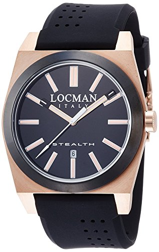 LOCMAN watch stealth classic Quartz Men's 0201 0201RGBKF5N0SIK Men's [regular imported goods]