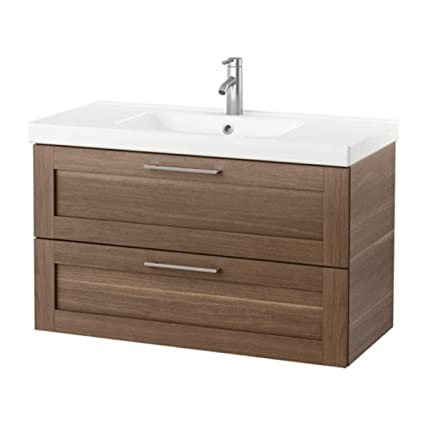 pretty nice 7af34 2c4d4 Amazon.com: IKEA Godmorgon/Odensvik Sink Cabinet with 2 ...
