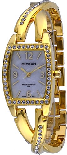 - Miykon #J4657-4880 Women's Gold Tone Crystal Accented MOP Dial Bracelet Watch