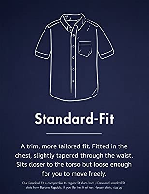 Amazon Brand - Goodthreads Men's Standard-Fit Short-Sleeve Large-Scale Plaid Shirt