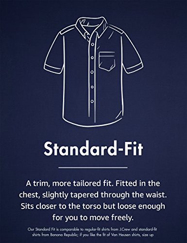 Amazon Brand - Goodthreads Men's Standard-Fit Short-Sleeve Large-Scale Plaid Shirt 6