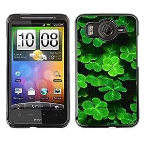Caucho caso de Shell duro de la cubierta de accesorios de protección BY RAYDREAMMM - HTC G10 - Trébol lindo