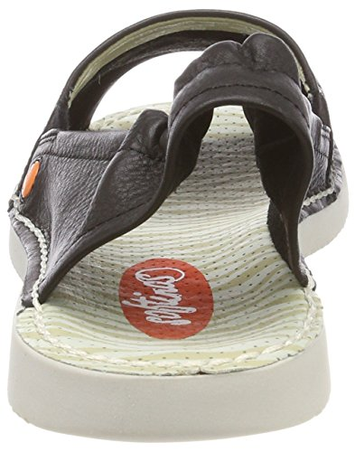 Taupe Softinos Womens Sandal Tee430sf Washed Leather qxXXw41gzr