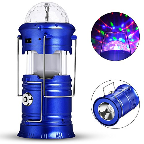 Camping Lantern, Honfill 3-in-1 Rechargeable Led Lamp Collapsible Flashlight Colorful Celling projector Compact Gifts for Emergency, Survival, Hurricane, Power Outage