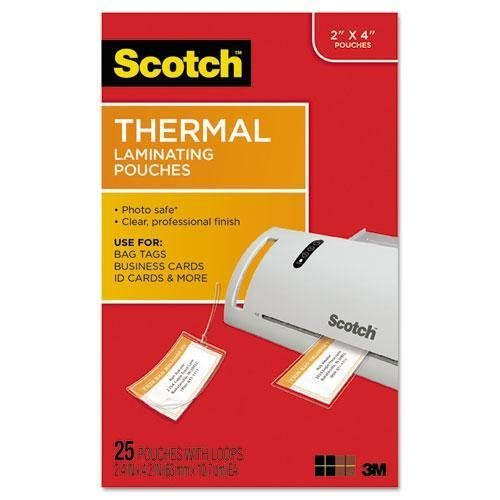 MMMTP585325 - Luggage Tag Size Thermal Laminating Pouches by 3M