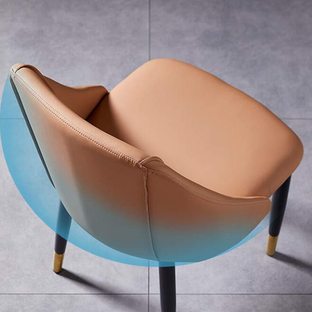 Matstol nordisk hem vardagsrum stol modern minimalistisk ryggstöd fritidsstol skrivbordsstol förhandla kontorsmöte smidesjärn makeup nagelstol stabil och hållbar F