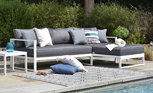 Elle Decor Paloma Outdoor Sofa, White (Outdoor Daybed Furniture Sale)