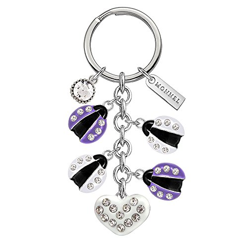 Monnel New Crystal Purple White Ladybugs Love Heart for sale  Delivered anywhere in USA