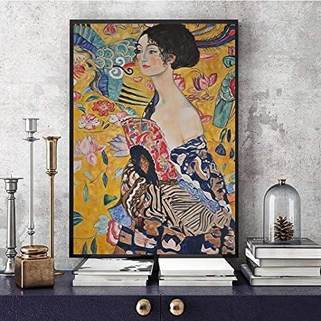 MXIBUN Cartel y Grabados Famoso Pintor Abstracto Pared Arte Cuadros Lienzo Pintura Regalo sin Marco 50 * 70 cm
