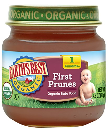 Earths Best Organic Stage 1 Baby Food, First Prunes, 2.5 oz. Jar