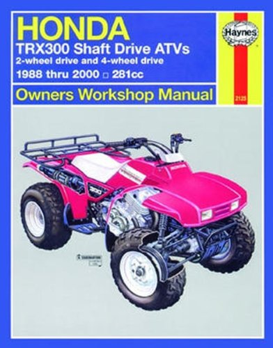 amazon com honda trx300 shaft drive haynes repair manual 1988 rh amazon com TRX300X 1994 honda trx 300 repair manual
