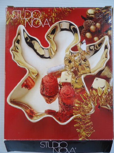 - Studio Nova Christmas Shine Gold Angel Candy Dish