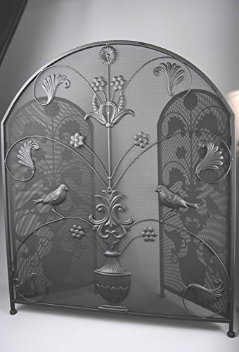 Four Seasons- Ornate Large Fire Screen Guard with Bird and Leaf Design fireguard Four Seasons Liverpool