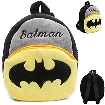 Toddler Boys Girls Kids Cartoon Batman School Backpack Rucksack Plush School Bag
