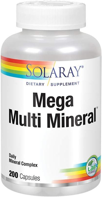 Solaray Mega Multi Mineral | 200 Capsules: Health & Personal Care
