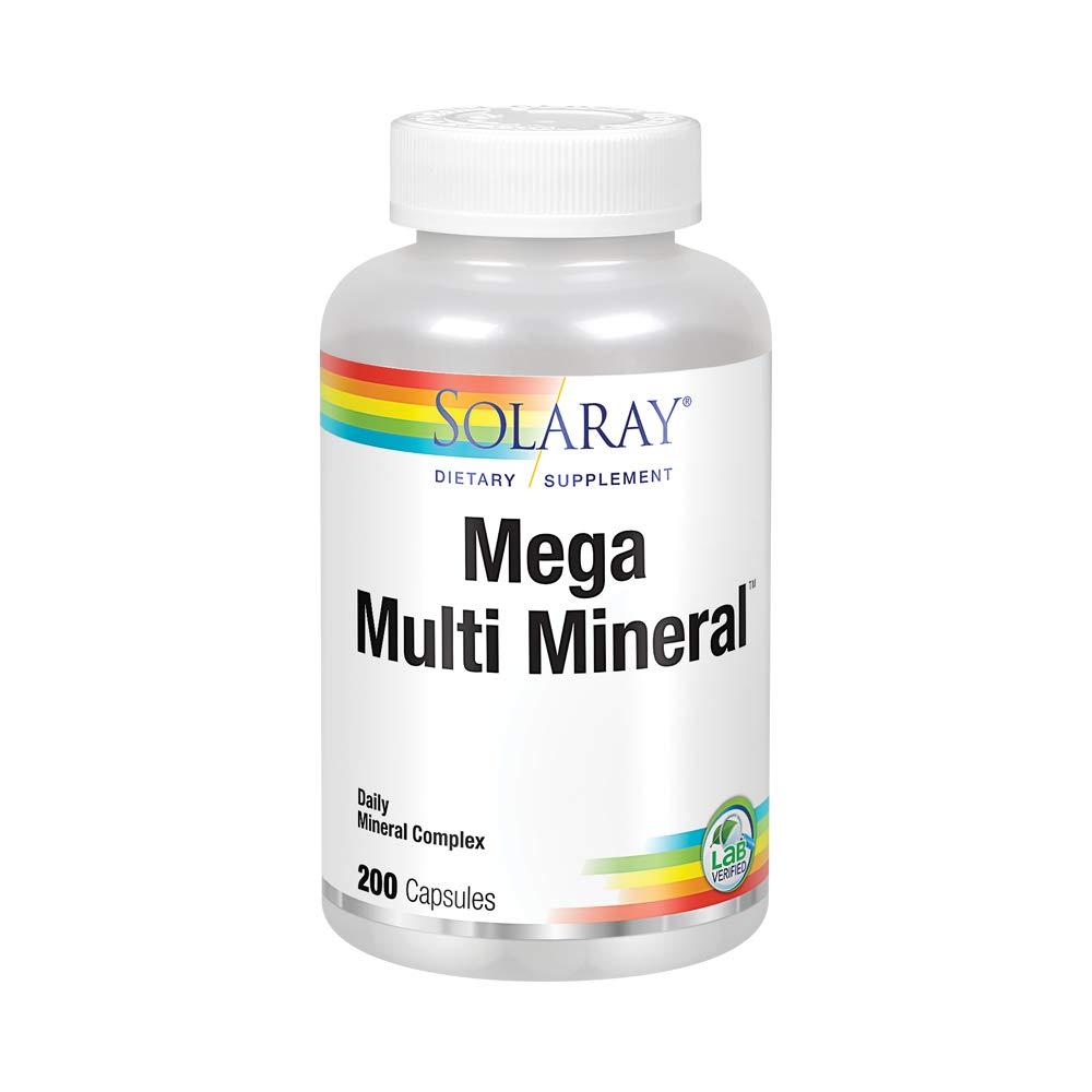 Solaray Mega Multi Mineral   200 Capsules