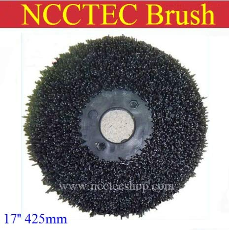 17' Floor Polisher - Anncus 17'' NCCTEC Steel Wire Floor Clean Brush | 425mm Circular Antique Brush disc for Granite Marble with Floor Polisher