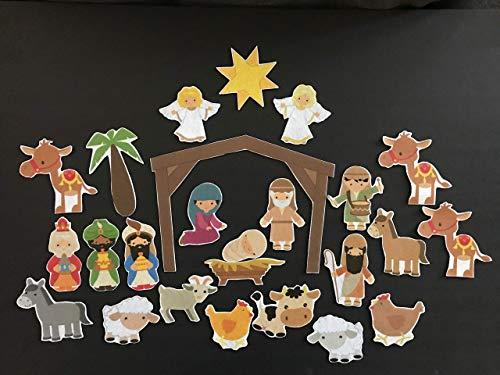 Nativity Felt Set- 25 Piece Advent Calendar