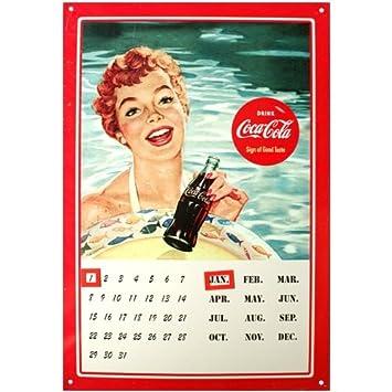 Coca Cola Chapa magnético calendario, Cartel de chapa Cartel ...