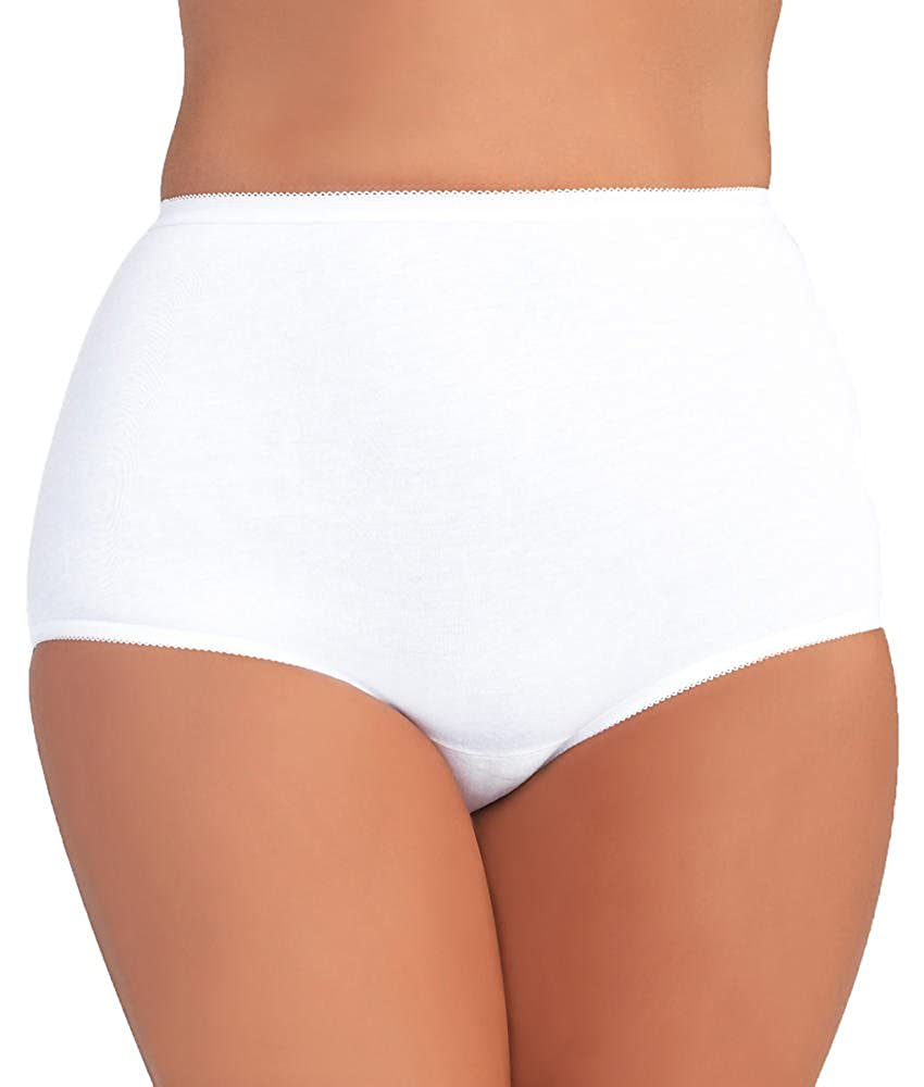 Vanity Fair Women's Plus Size Perfectly Yours Tailored Cotton Brief Panty 15318