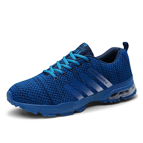 Luftpolster Herren Laufschuhe Blau Turnschuhe Damen in Leicht 37 Bequem Outdoor Lee 46 Sportschuhe a Größe Schuhe Super zUIZH5qw