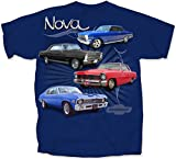 Automotive : Gildan Men's Chevrolet 4 Vintage Chevy Novas T-Shirt, XXX-Large, Metro Blue