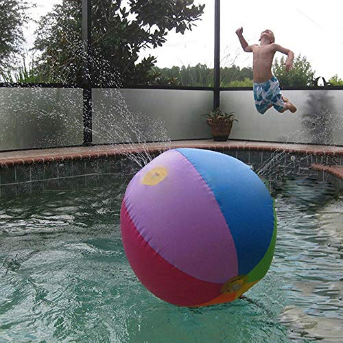 Maikouhai Beach Ball, Interseting Inflatable Water Outdoor Beach Ball Toy Sport Balloons Colors Swim Fun Kids New for Happy Time with Your -