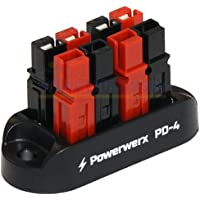 Powerwerx 4 Position Power Distribution Block for 15/30/45A Anderson Powerpole Connectors PD-4