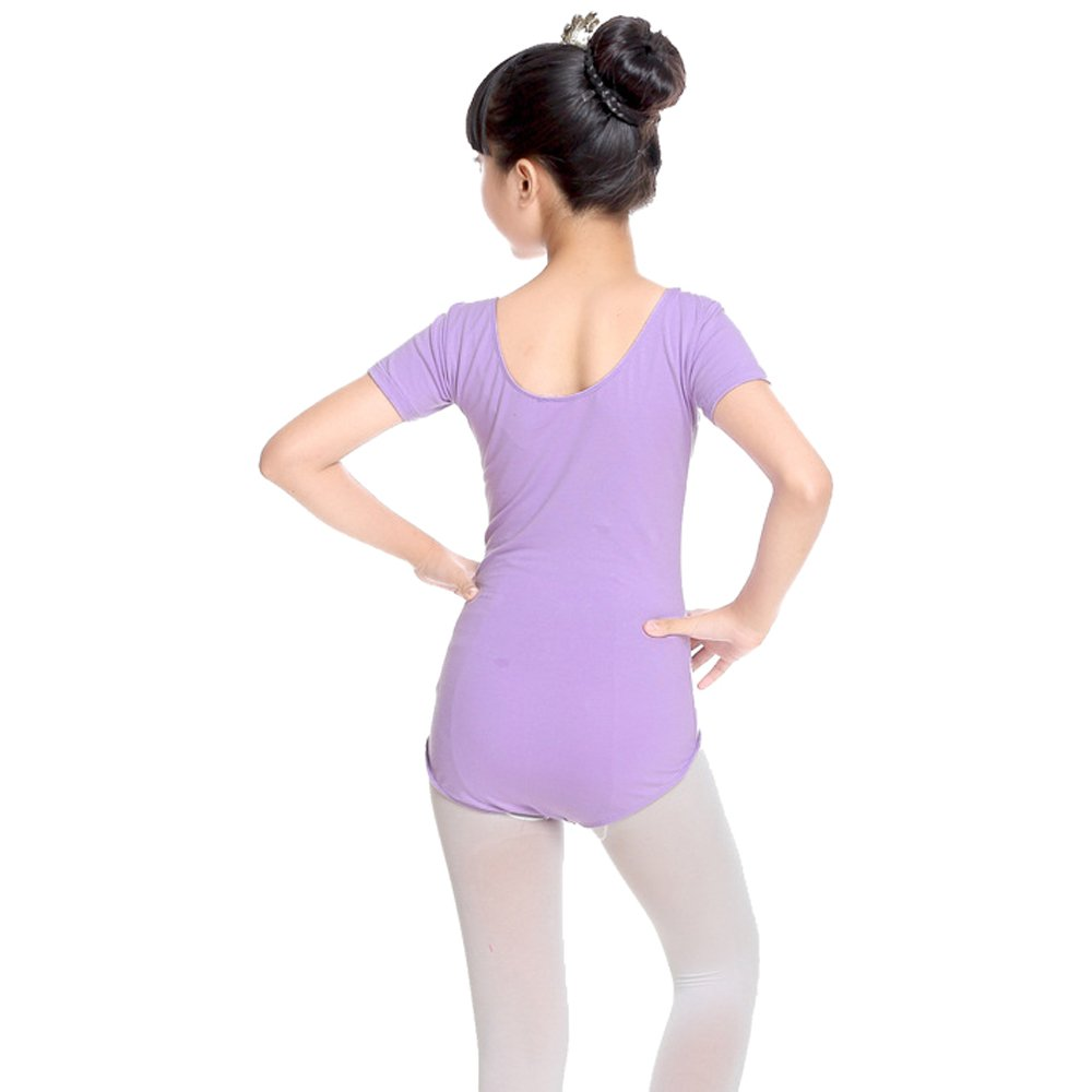 Rosa KINDOYO Ragazza Leotard Vestito Tinta Unita Classica Manica Corta//Manica Lunga Balletto Dancewear Body Ginnastica Costumi Abbigliamento