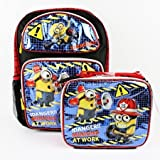 Despicable Me Minions At Work Glitter Boys and Girls School Backpack with Lunch Bag Set