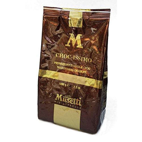 Musetti - Choc-Issimo Gianduia - Italian Drinking Chocolate Powder - 1kg (2.2lb) (Italian Hot Chocolate)