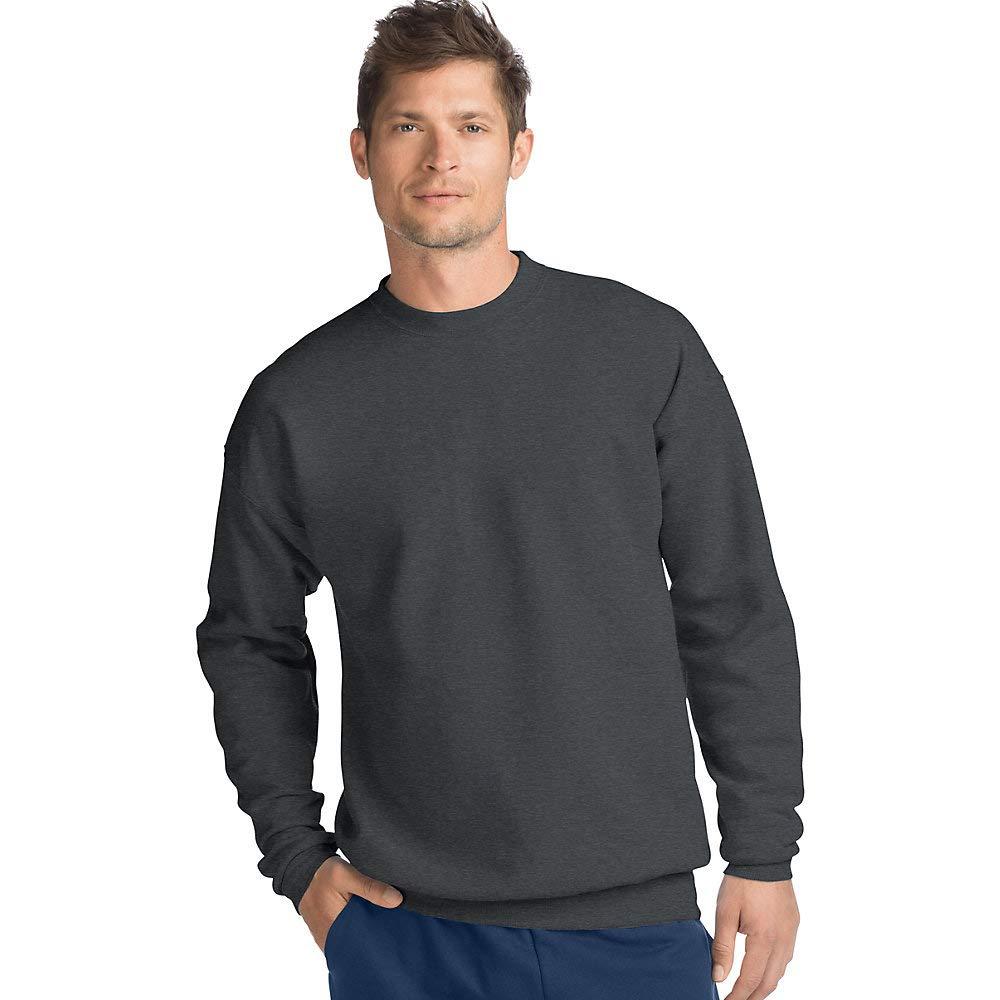 Hanes ComfortBlend EcoSmart Crew Sweatshirt, Charcoal Heather, 3XL