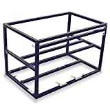 Mytrix Solid Aluminum Cryptocurrency Open Air Mining Rig Frame Case Single PSU – Fits up to 6 GPU for Crypto Coin ETH Ethereum Zcash ZEC Bitcoin (Frame Only) - Black
