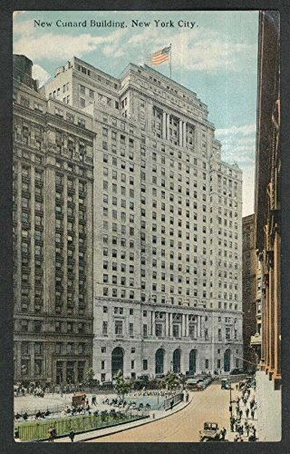 - New Cunard Building New York City NY postcard 1920s