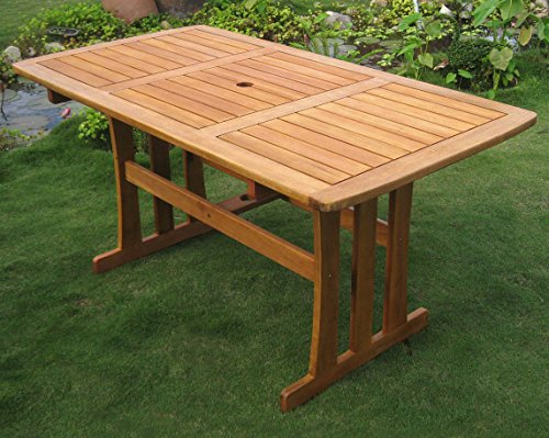 International Caravan TT-RE-007-IC Furniture Piece Royal Tahiti Outdoor Wood Rectangular Dining Table ()