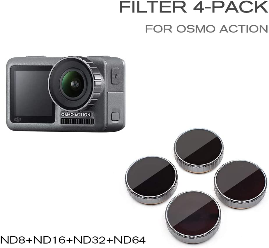Cigooxm STARTRC Camera Lens ND Filter Set ND8 ND16 ND32 ND64 Neutral Density Fader Filters for DJI OSMO Action Camera