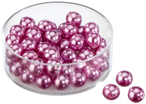Knorr Prandell 6 mm 50-Piece Glass Wax Beads, Mauve